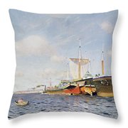 Fresh Wind On The Volga Throw Pillow by Isaak Ilyich Levitan