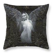 Frida Guardian Of The Arts Throw Pillow by Lorena Rivera