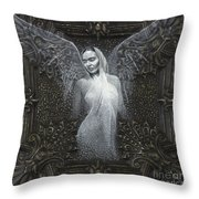 Frida Guardian Of The Arts Throw Pillow by Lorena Rivera