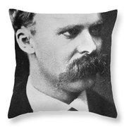 Friedrich Wilhelm Nietzsche Throw Pillow by French Photographer