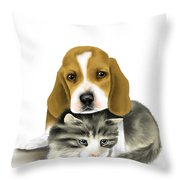 Friends Throw Pillow by Veronica Minozzi