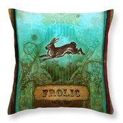 Frolic Throw Pillow by Aimee Stewart