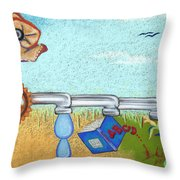 From Nothing To Something Throw Pillow by Tracy L Teeter