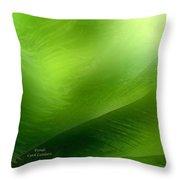 Fronds Throw Pillow by Carol Cavalaris