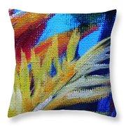 Fronds Throw Pillow by John Clark