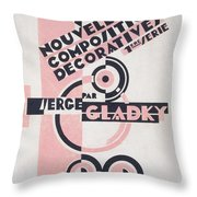 Front cover of Nouvelles Compositions Decoratives Throw Pillow by Serge Gladky