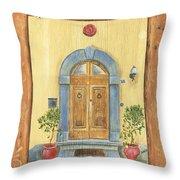 Front Door 1 Throw Pillow by Debbie DeWitt