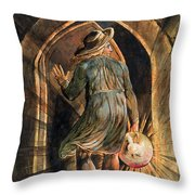 Frontispiece To Jerusalem Throw Pillow by William Blake