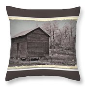 Frosty Morning Sepia 2 Throw Pillow by Chalet Roome-Rigdon