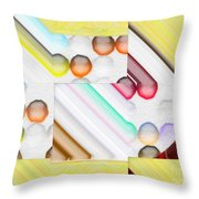 Frosty Painted Marble Weave Throw Pillow by Liane Wright