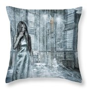 Frozen Hope Throw Pillow by Erik Brede