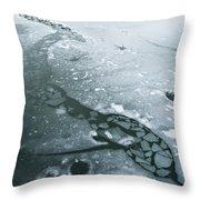 Frozen Pond Throw Pillow by Gary Eason