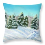 Frozen Sunshine Throw Pillow by Arlene Crafton