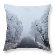 Frozen Trees Throw Pillow by Darren  White