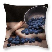 Fruit Cup Still Life Throw Pillow by Tom Mc Nemar