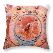 Ft Worth Steel Throw Pillow by Angela Wright