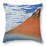 Fuji Mountains in clear Weather Throw Pillow by Hokusai