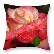 Full Bloom Throw Pillow by Juergen Roth