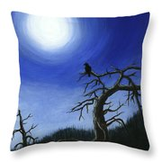 Full Moon Throw Pillow by Anastasiya Malakhova