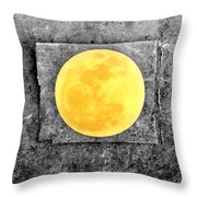 Full Moon Throw Pillow by Rebecca Sherman