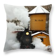 Full Steam Ahead Throw Pillow by Ken Smith