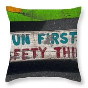 Fun First Throw Pillow by Garry Gay