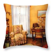 Furniture - Chair - Livingrom Retirement Throw Pillow by Mike Savad