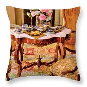 Furniture - Chair - The Tea Party Throw Pillow by Mike Savad