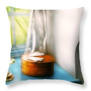 Furniture - Lamp - In The Window  Throw Pillow by Mike Savad