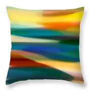 Fury Seascape 5 Throw Pillow by Amy Vangsgard