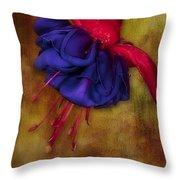 Fuschia Flower Throw Pillow by Susan Candelario