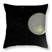 Future Earth 2 Throw Pillow by Cheryl Young
