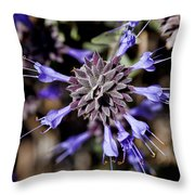 Fuzzy Purple 3 Throw Pillow by Kelley King