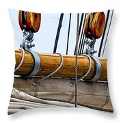 Gaff And Mainsail Throw Pillow by Marty Saccone