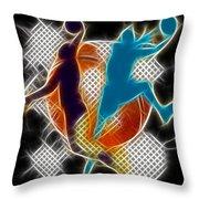 Galactic Dunk 3 Throw Pillow by David G Paul