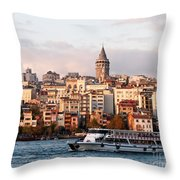 Galata Skyline 03 Throw Pillow by Rick Piper Photography