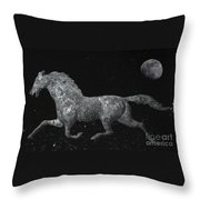 Galloping Through The Universe Throw Pillow by John Stephens