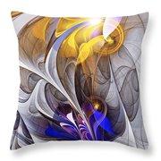 Galvanized Throw Pillow by Anastasiya Malakhova
