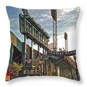 Game Day - Fenway Park Throw Pillow by Joann Vitali