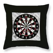 Game of Darts Anyone? Throw Pillow by Kaye Menner