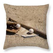 Game Time Throw Pillow by Bill Cannon