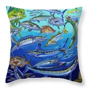 Gamefish Collage In0031 Throw Pillow by Carey Chen