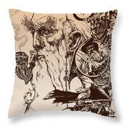 gandalf- Tolkien appreciation Throw Pillow by Derrick Higgins