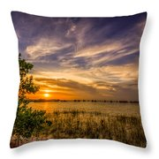 Gandy Lagoon Throw Pillow by Marvin Spates