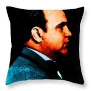 Gangman Style - Al Capone c28169 - Black - Painterly Throw Pillow by Wingsdomain Art and Photography