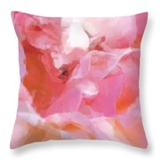 Garden Ballet Throw Pillow by Gwyn Newcombe