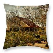 Garden Fantasy Throw Pillow by Linda Unger