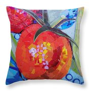 Garden Harvest Collage Detail Throw Pillow by Shawna Rowe