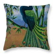 Garden Jewel 1 Hand Embroidery Throw Pillow by To-Tam Gerwe