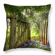 Garden Of Eden Throw Pillow by Debra and Dave Vanderlaan